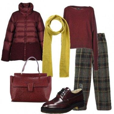 Outfit Tartan e bordeaux