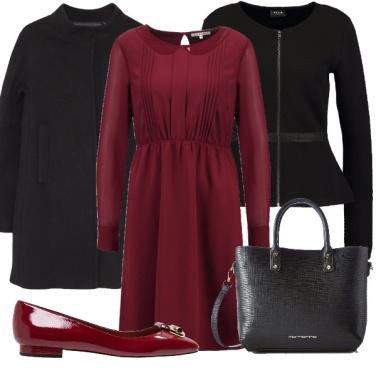 Outfit Il vestito bordeaux
