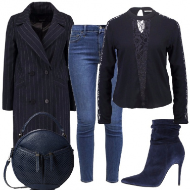 Outfit Cappotto gessato