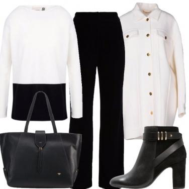 Outfit Il classico bianco e nero