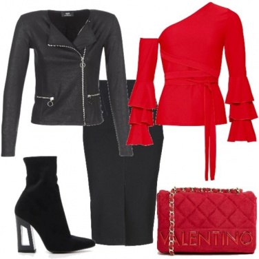 Outfit Il rosso che si nota