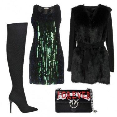 Outfit Il vestito di paillettes