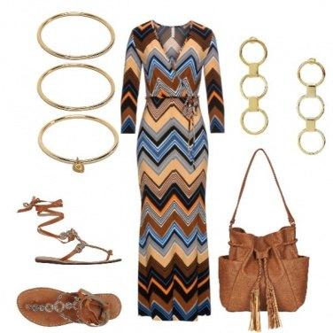Outfit Vestito lungo stile etnico
