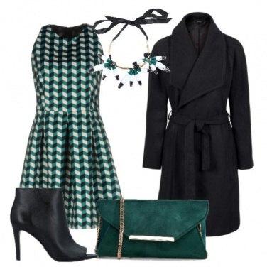 Outfit Vestito a stampa geometrica