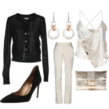 Outfit Paillettes chic