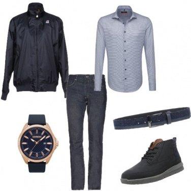 Outfit Quadrante blu