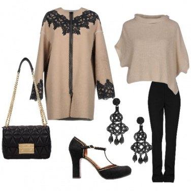 Outfit Rosa antico e nero