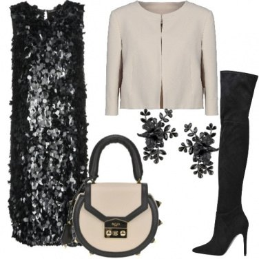 Outfit Serata in paillettes
