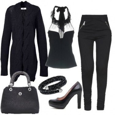 Outfit Sexy sotto il cardigan