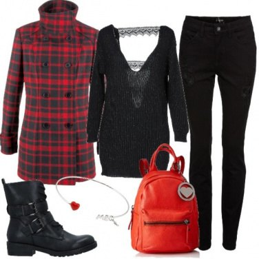Outfit Rock in black and red