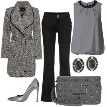 Outfit Colletto con paillettes