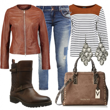 Outfit Rock in marrone