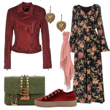 Outfit Lungo floreale anche di giorno