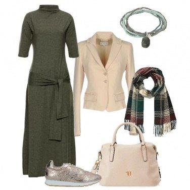 Outfit Il verde e il beige