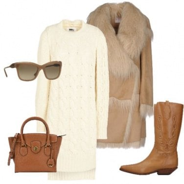 Outfit Un caldo abito in maglia
