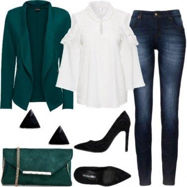 Outfit Verde di sera