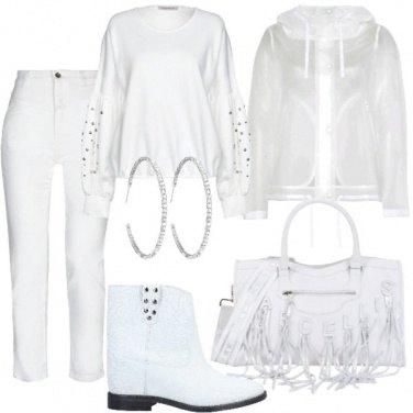 Outfit Bianco e borchie