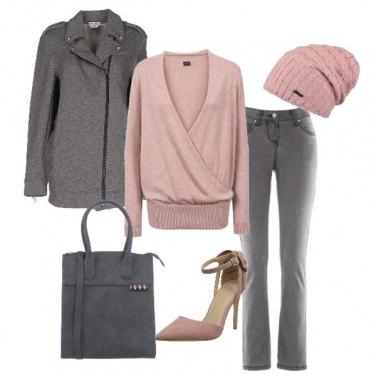 Outfit Rosa e nebbia