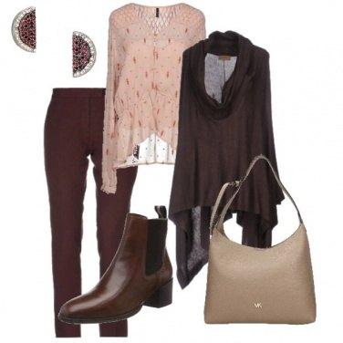 Outfit La mantellina marrone
