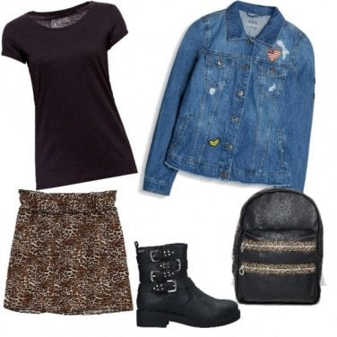 Outfit Autunno maculato