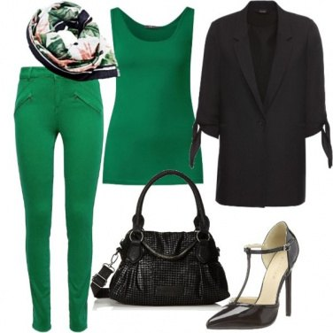 Outfit In verde low cost