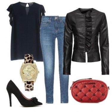 Outfit Orologio leopardato
