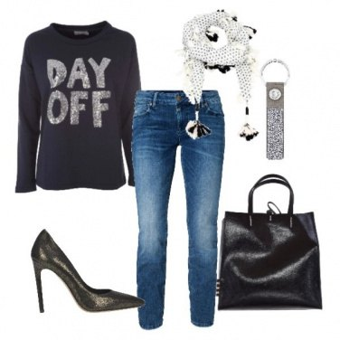 Outfit Un tocco di paillettes!