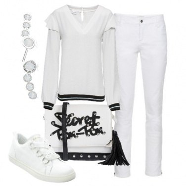 Outfit Bianco per un look informale