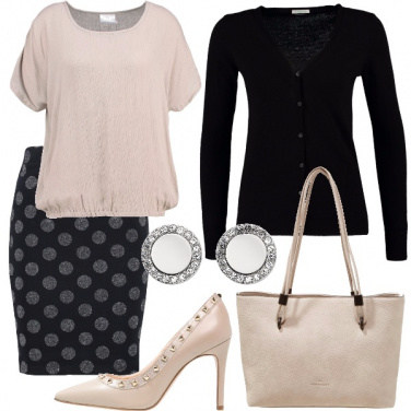 Outfit Gonna a pois