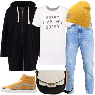 Outfit Giallo urban