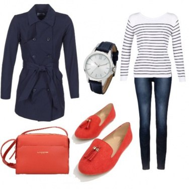 Outfit Bluered