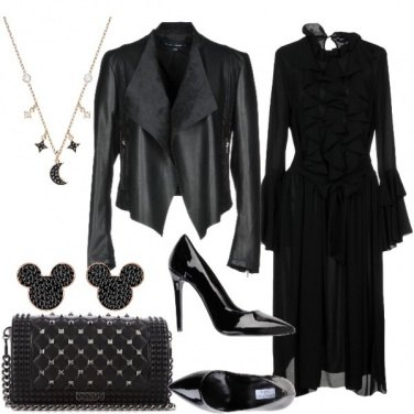 Outfit Nero e Swarovski