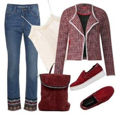 Outfit Rosso ciliega