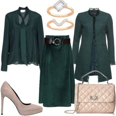 Outfit Il green forest di Meghan Markle