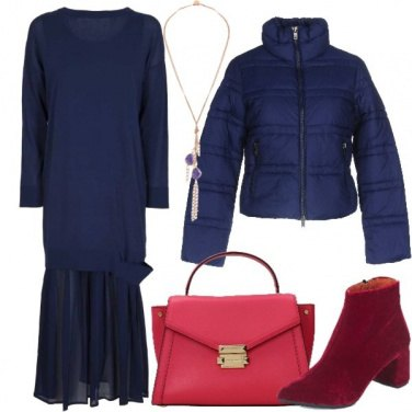 Outfit Un magnifico lungo blu