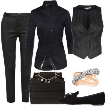 Outfit Black gilet