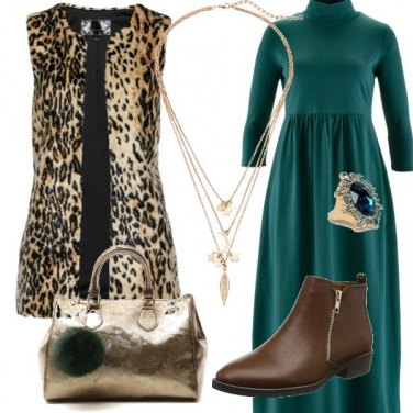 Outfit Verde & Oro