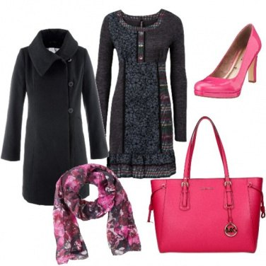 Outfit Fiori rosa, fiori e rosa