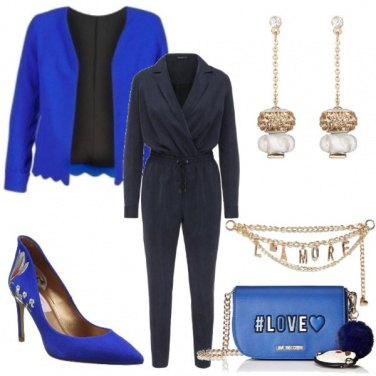Outfit Blue and gold