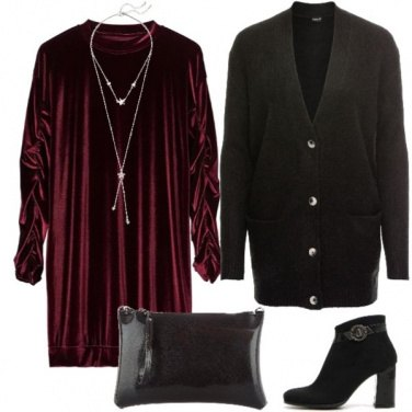 Outfit Velluto e cardigan