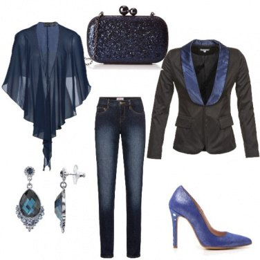 Outfit Serata chic in jeans