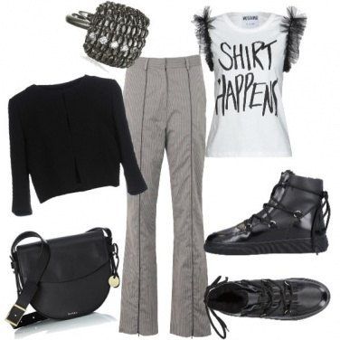 Outfit La sneakers a mó di bomboot