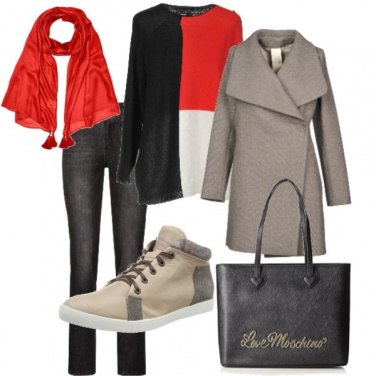 Outfit Il foulard rosso