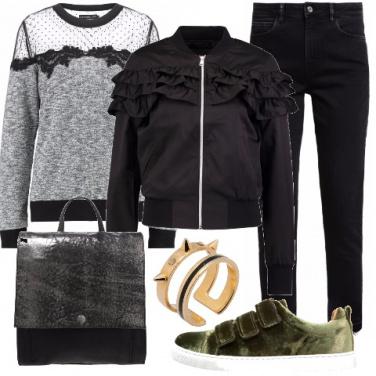 Outfit Romanticamente urban