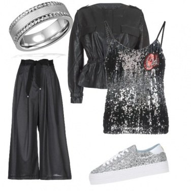 Outfit Paillettes sportive