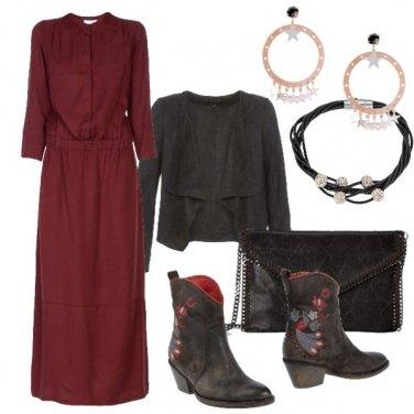 Outfit Vestito lungo ad ottobre