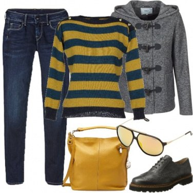 Outfit Maglioncino a righe