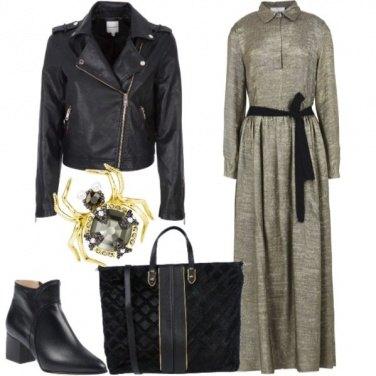 Outfit Long dress e chiodo
