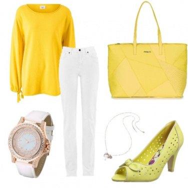 Outfit Giallo e bianco