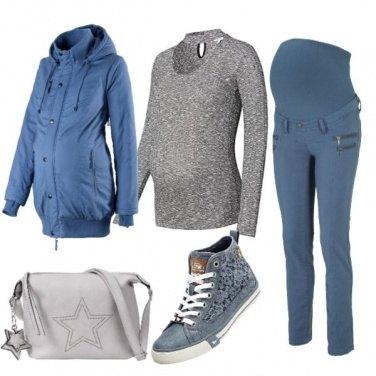 Outfit Premaman azzurro